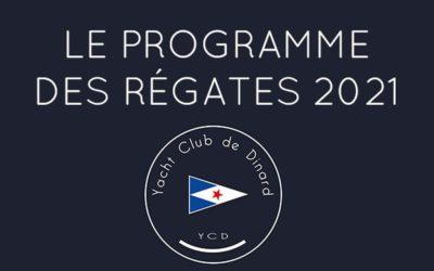 Le programme des régates 2021