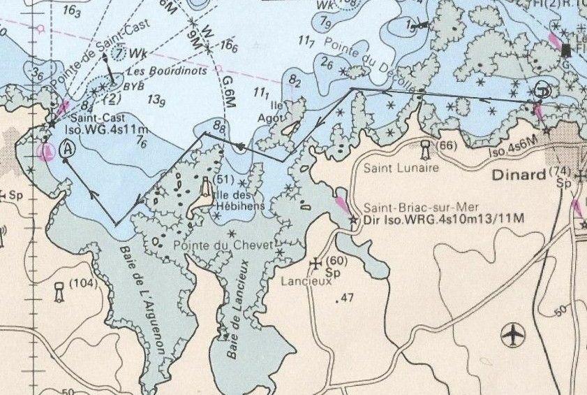 Parcours Régate Dinard Saint-Cast Yacht Club de Dinard