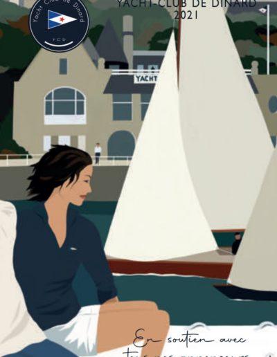 Couverture de la revue 2021 du Yacht Club de Dinard